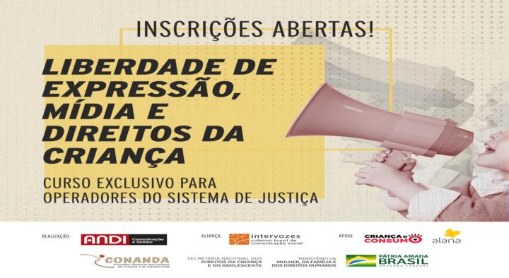 Curso gratuito e online capacitará operadores do Sistema de Justiça sobre mídia e direitos da criança