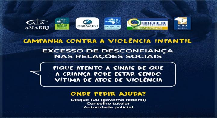 ABRAMINJ, FONAJUP e FONAJUV apoiam AMAERJ em nova mensagem em cards para mobilizar campanha pelas crianças